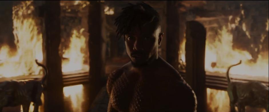 Michael B Jordan as Killmonger, arguably one of Marvel's best villains so far.